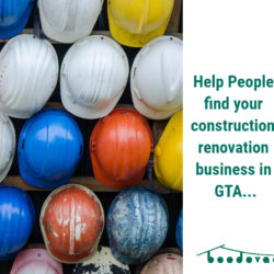 Help people find your construction/ renovation business in GTA