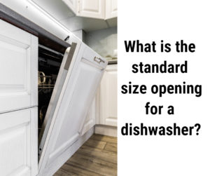 standard size dishwasher