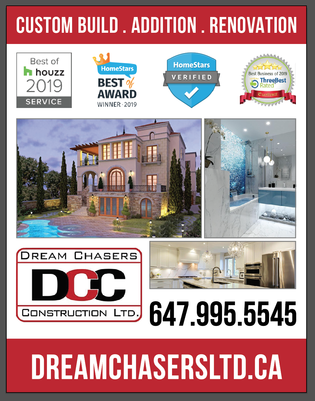 Services offered by Dream Chasers Construction