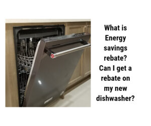 Energy Saving Rebate on Dishwasher