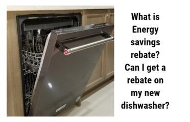 Energy Saving Rebate on Dishwasher