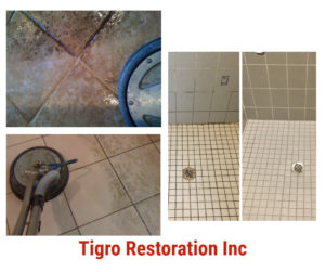 Tile and floor cleaning and restoration by Tigro Restoration
