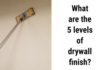the 5 levels of drywall finish