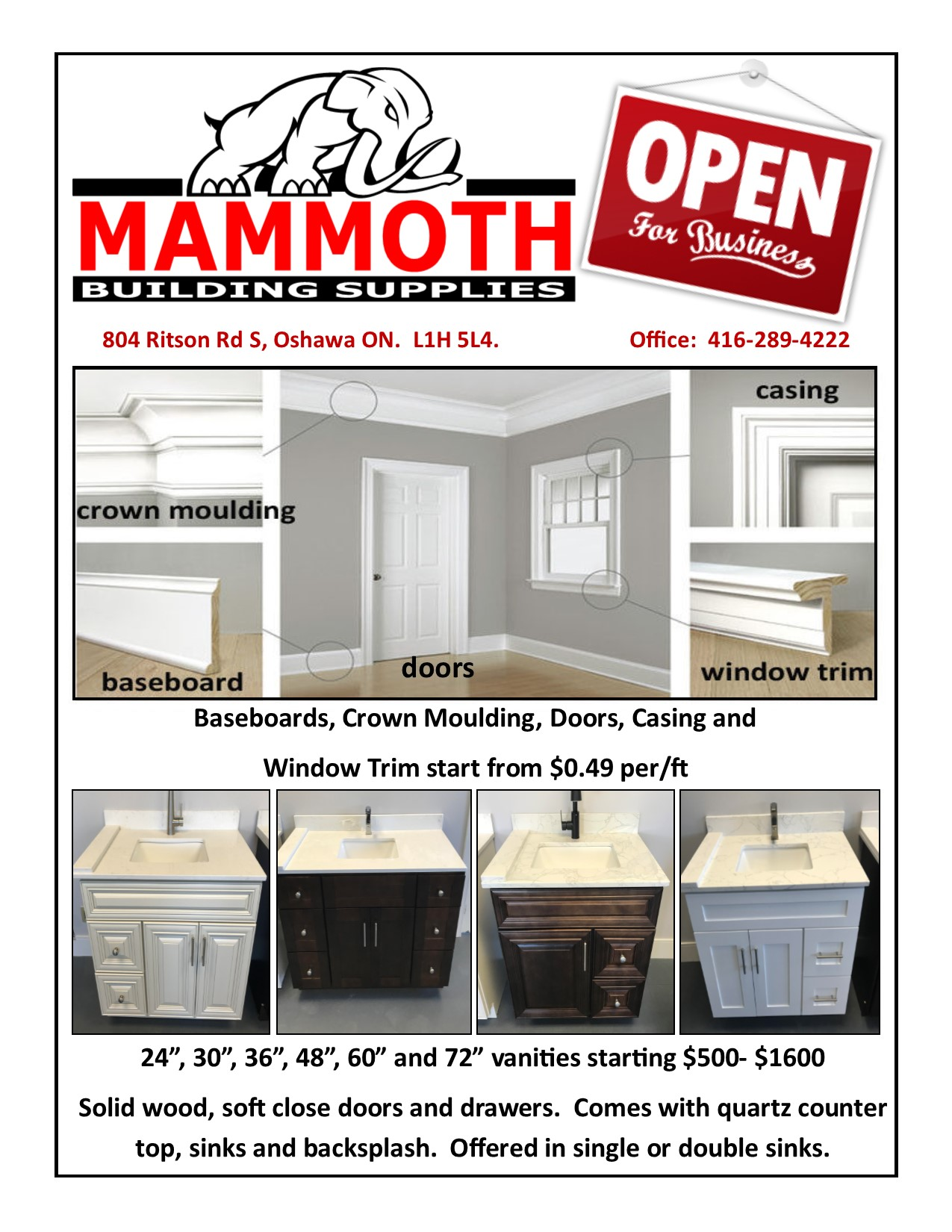 Mammoth Building Supplies | Building supplier in Oshawa
