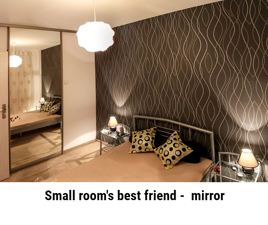 Mirrors can be a small room's best friend